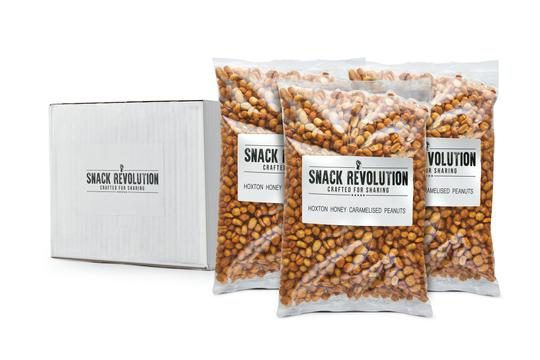 BULK NUTS - UP ALL NIGHT - Hoxton Hot Toffee Caramelised Peanuts - Snack Revolution