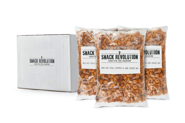 BULK NUTS - RED HOT CHILLI PEPPER & LIME House Mix - (Almonds, Cashews & Peanuts) - 3kg - Snack Revolution