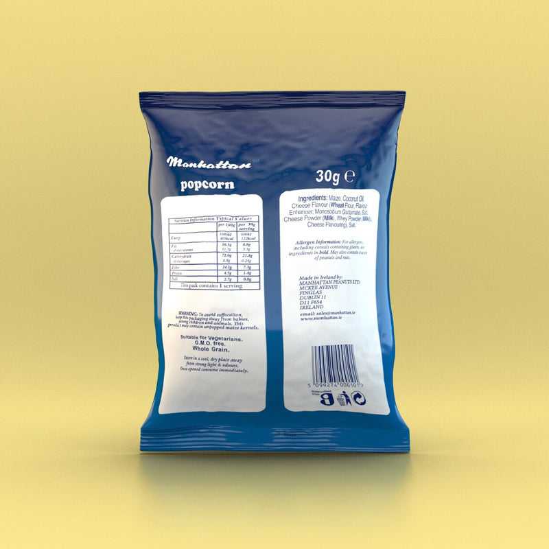 Manhattan - Cheese Popcorn 30g - Snack Revolution