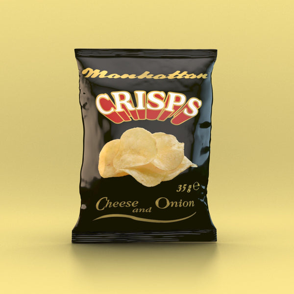 Manhattan - Cheese 'n Onion Crisps 35g - Snack Revolution