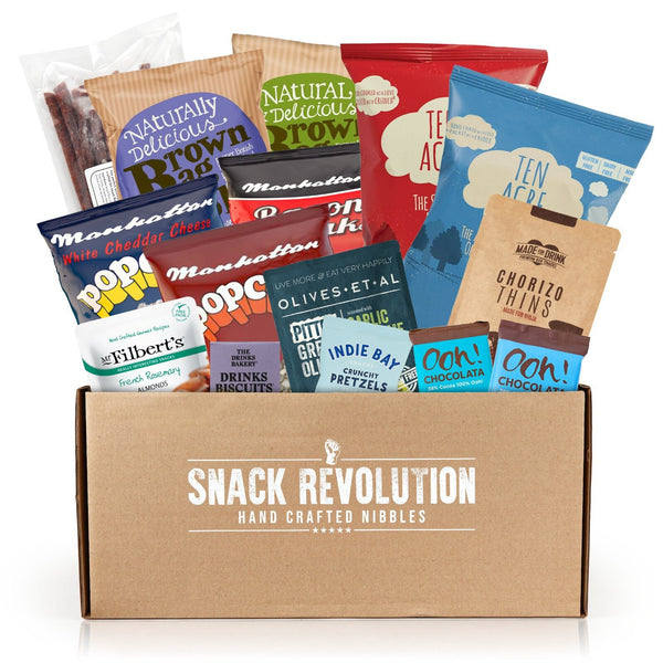 Wine Time - Gourmet Wine Lovers Snack Box - FREE 1kg BBQ CASHEWS IN THIS BOX - T&Cs APPLY - Snack Revolution