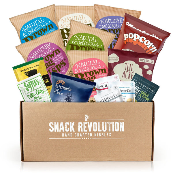 Happy Snack Box - Best Selling Snack Box - FREE 500g SMOKED CORN IN THIS BOX - Snack Revolution