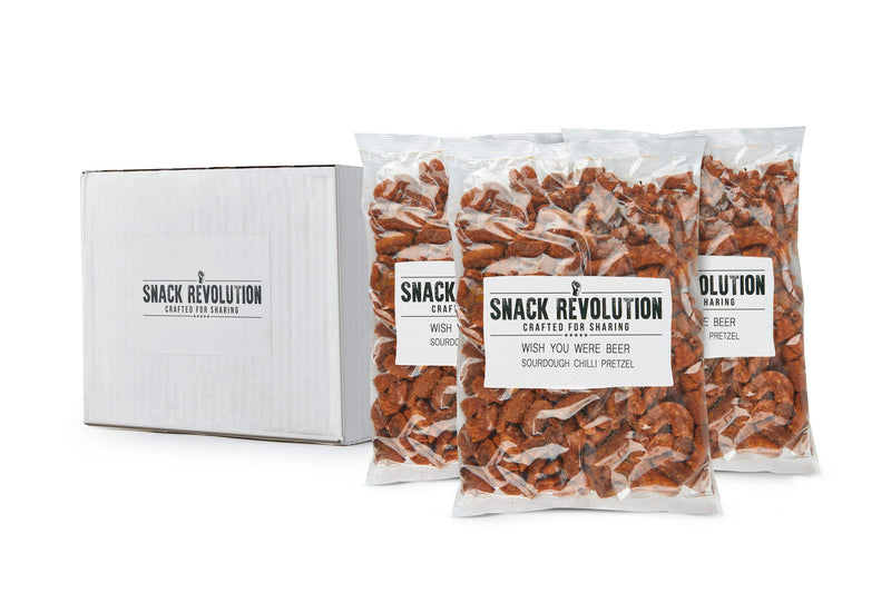 BULK PRETZEL - WISH U WERE BEER - Wapping Broken Sourdough Chilli Pretzels - 500g packs - BUY 1 GET 1 FREE OFFER!!! - Snack Revolution