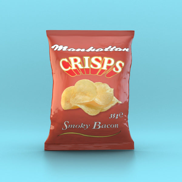 Manhattan - Smoky Bacon Crisps 35g - Snack Revolution