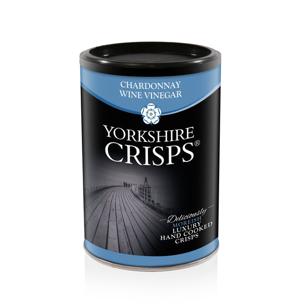 Yorkshire Crisps - Chardonnay Wine Vinegar 100g drums - Snack Revolution