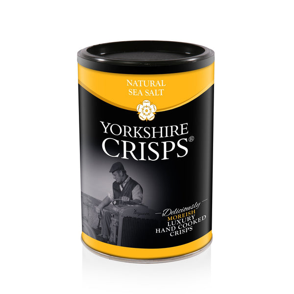 Yorkshire Crisps - Natural Sea Salt 100g drums - Snack Revolution