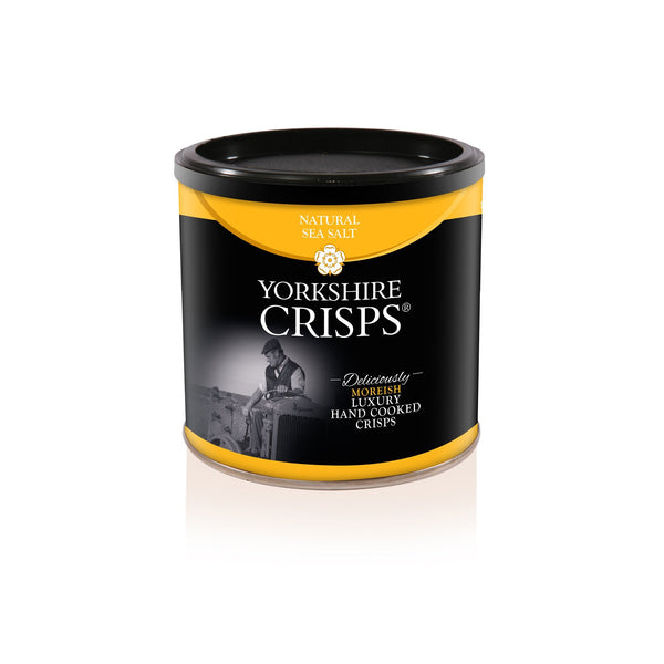 Yorkshire Crisps - Natural Sea Salt 50g drums - Snack Revolution