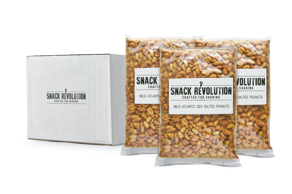 BULK NUTS - STEAMING - Wild Atlantic Sea Salted Peanuts - Snack Revolution