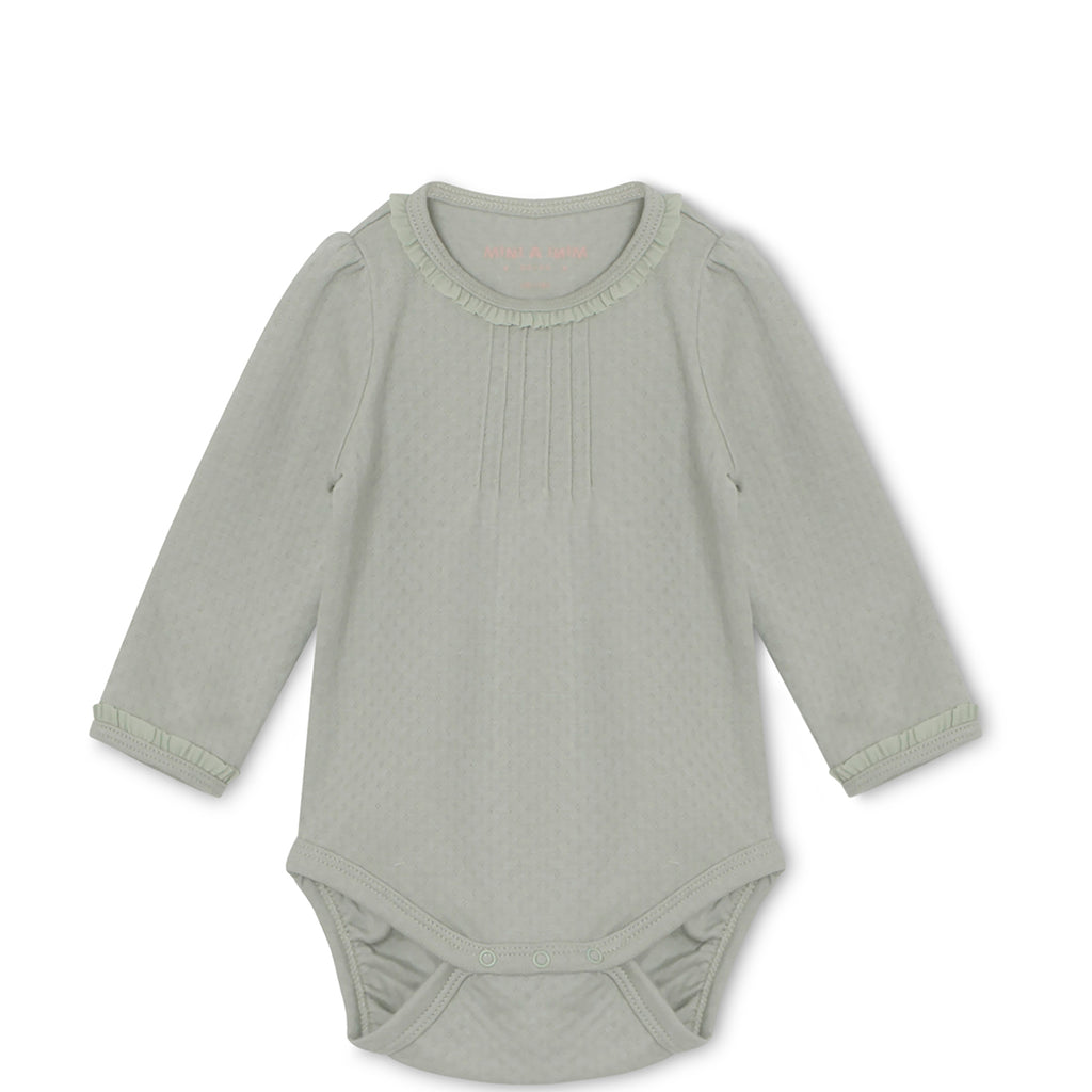 Langarmbody puritan grey, Mini A Ture