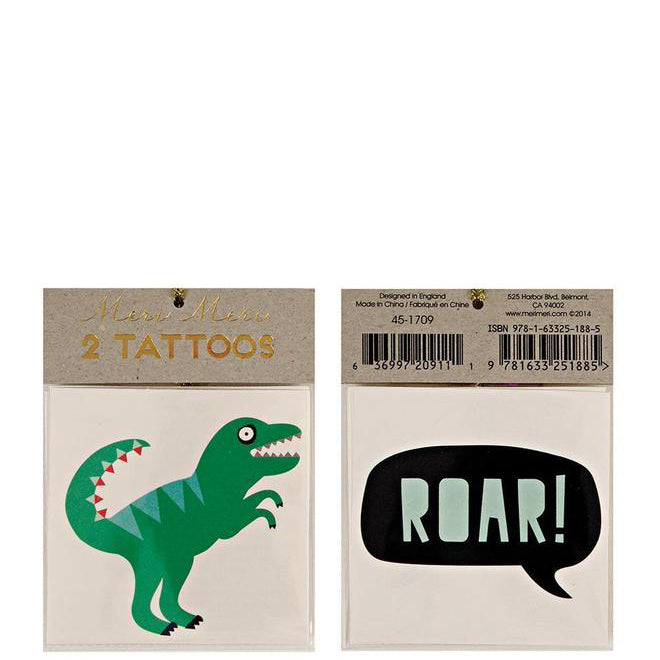 Tattoo-Set ROAR!,  Meri Meri