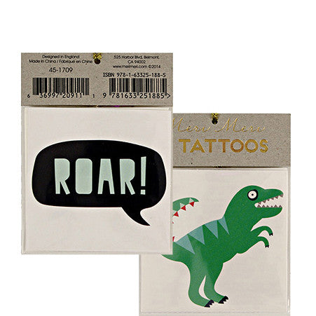 Tattoo-Set ROAR! von Meri Meri