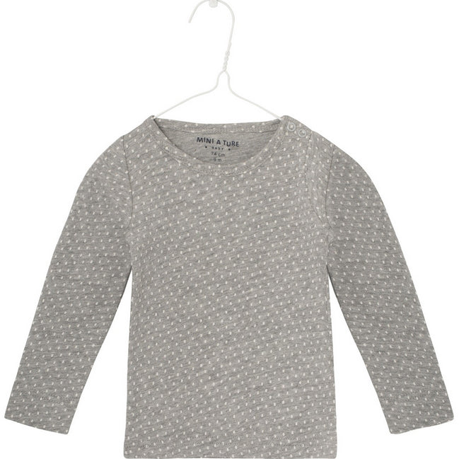 Langarmshirt EDDY light grey melange, Mini A Ture