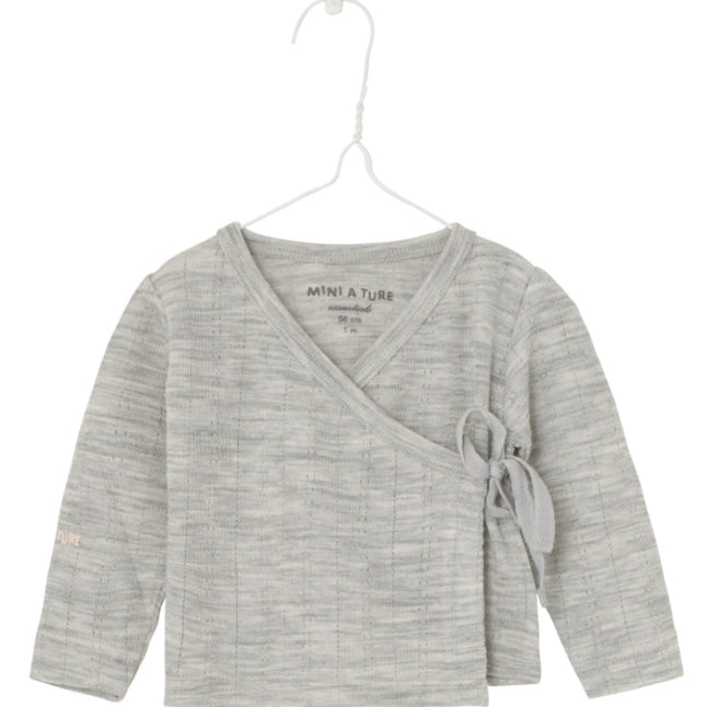 Wickeljacke grey melange, Mini A Ture