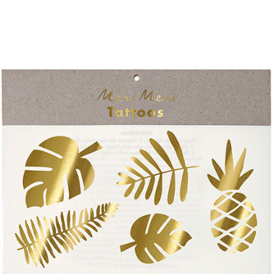 Tattoo-Set GOLD TROPICAL von Meri Meri