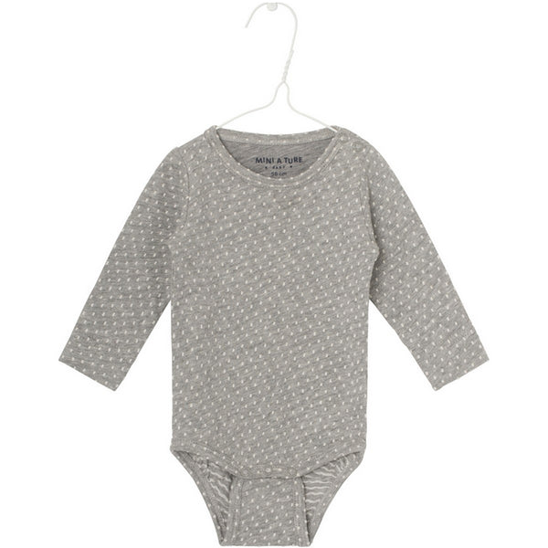 Langarmbody ELLIS light grey melange, Mini A Ture