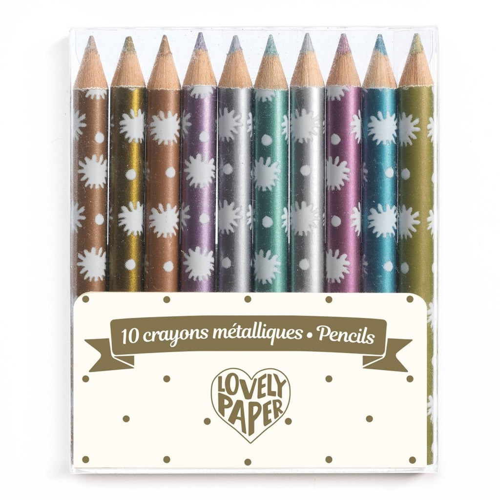 10 Mini-Metallic-Buntstifte, Djeco