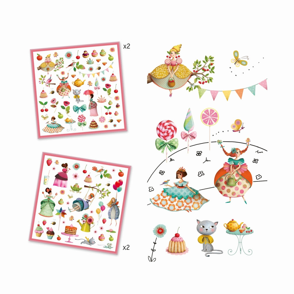 160 Sticker PRINCESSES TEAPARTY, Djeco