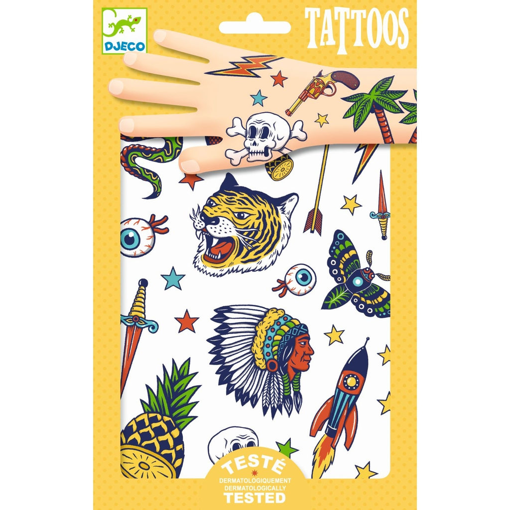 Tattoos INDIANER, Djeco