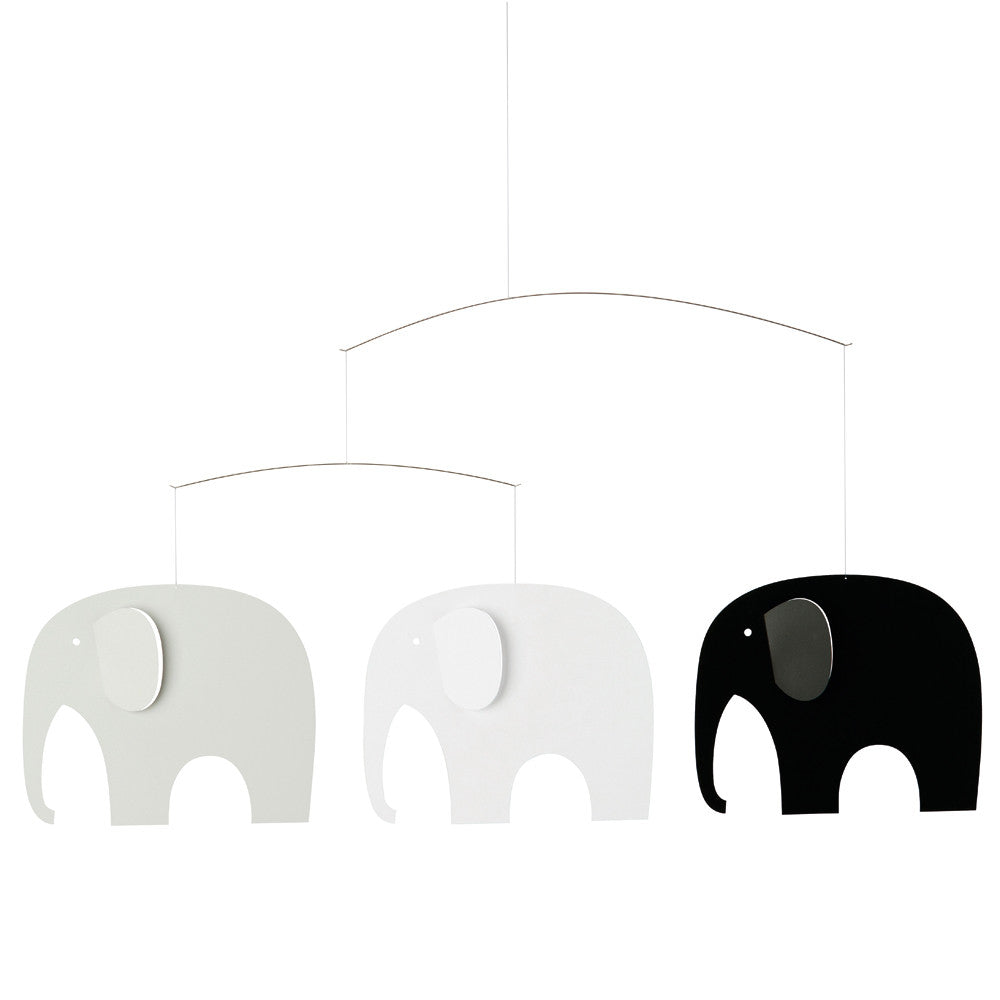 Mobile ELEPHANT PARTY, grau von Flensted
