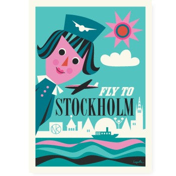 Poster FLY TO STOCKHOLM