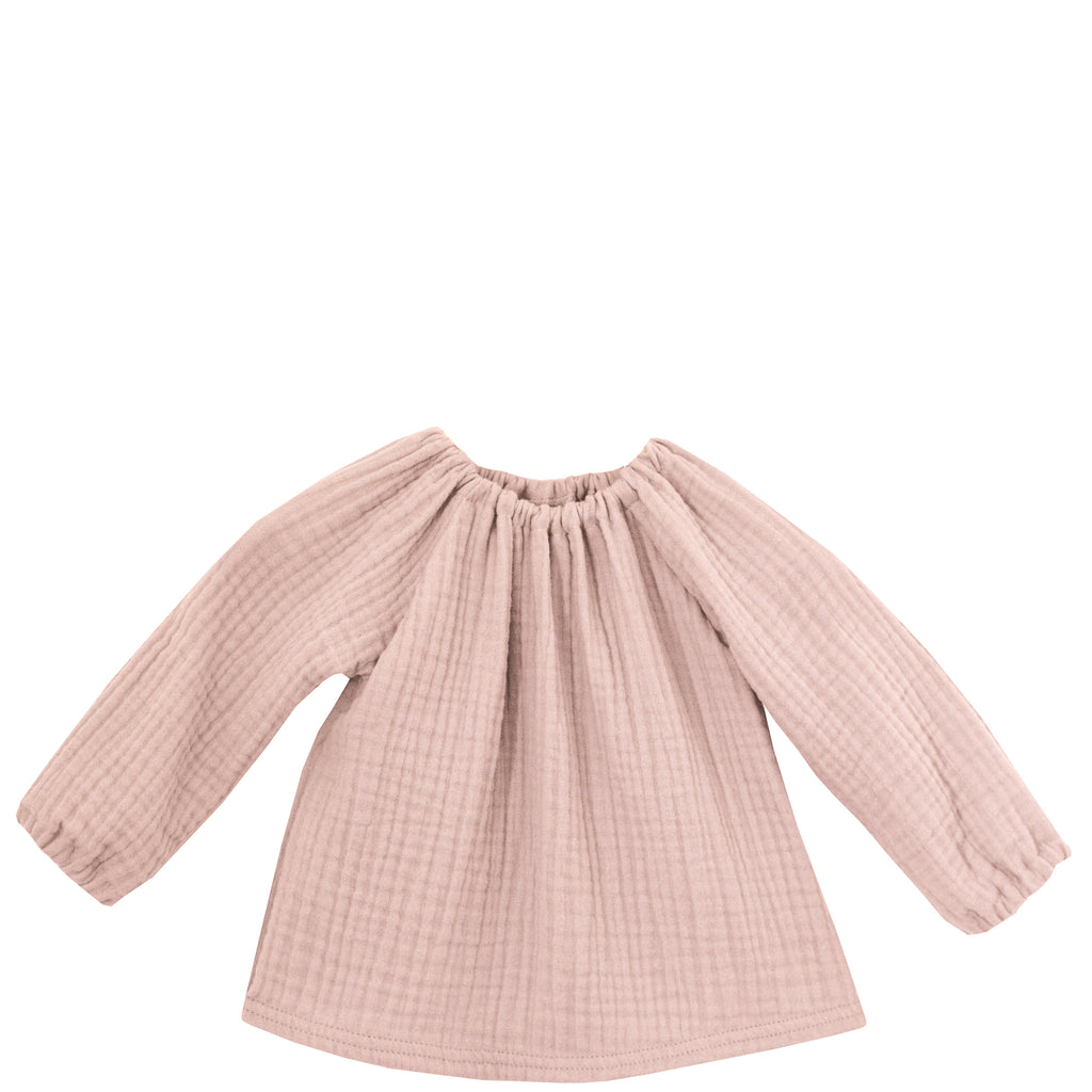 Musselin-Shirt dusty rose