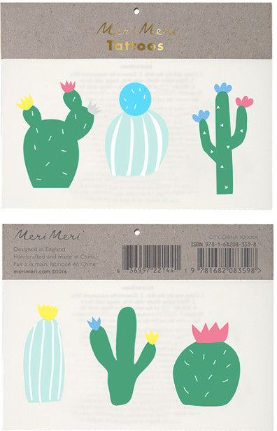 Tattoo-Set CACTUS von Meri Meri