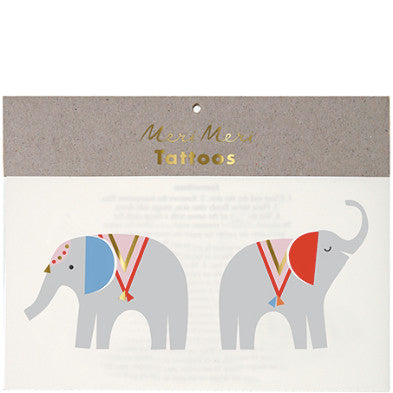 Tattoo-Set ELEPHANTS von Meri Meri