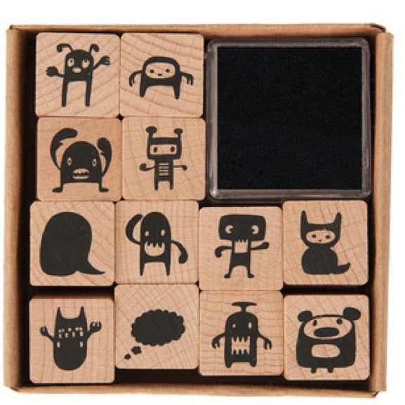 Stempel-Set MONSTER