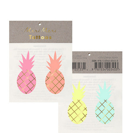 Tattoo-Set PINEAPPLE von Meri Meri