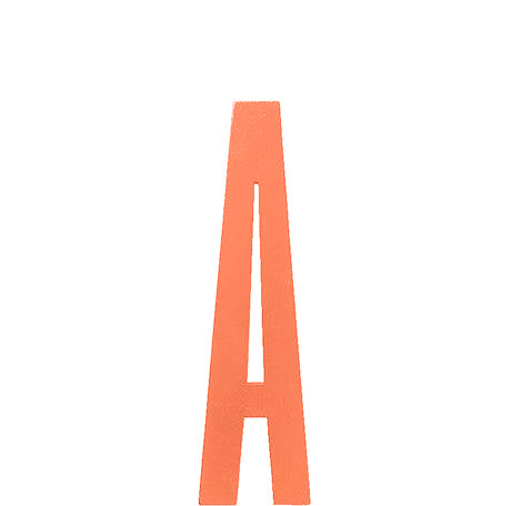 Holzbuchstabe, DESIGN LETTERS orange