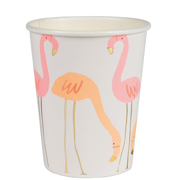 8 Pappbecher FLAMINGO