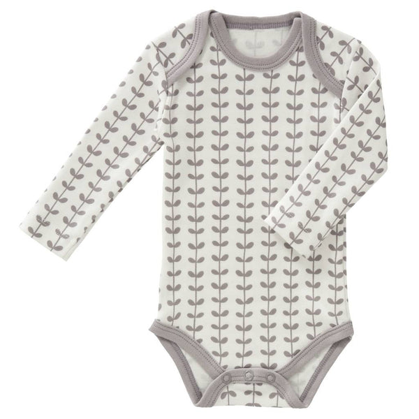 Langarmbody LEAVES, Fresk Babywear