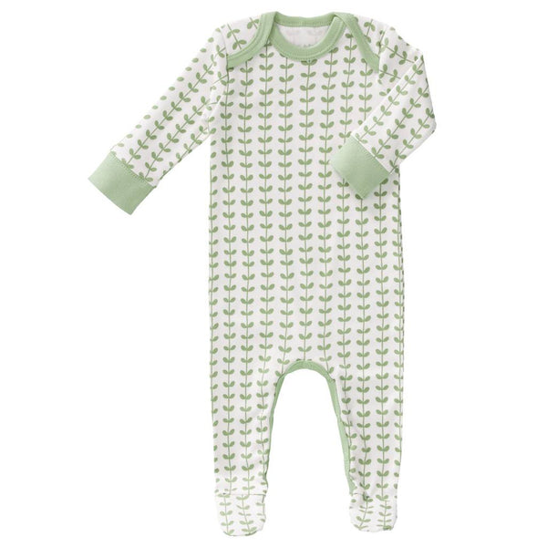 Strampler LEAVES mint, Fresk Babywear
