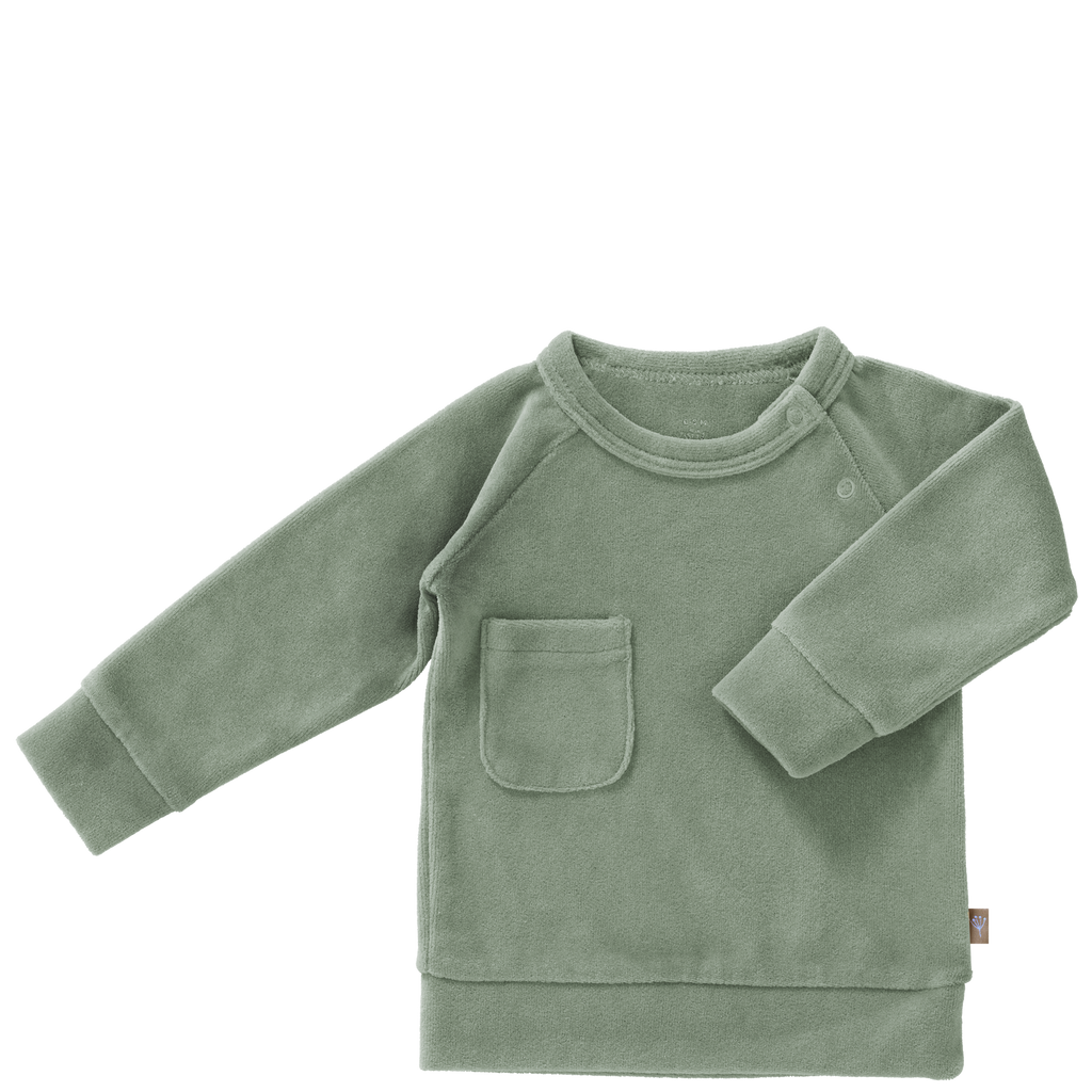 Nicky-Pullover FOREST GREEN, Fresk Babywear