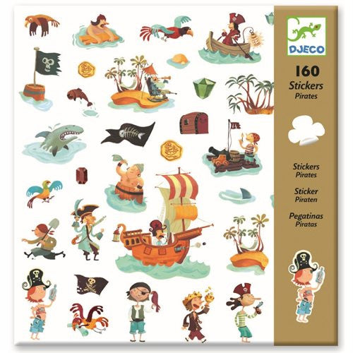 160 Sticker PIRATEN, Djeco