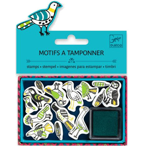 Ministempel-Set BIRD, Djeco