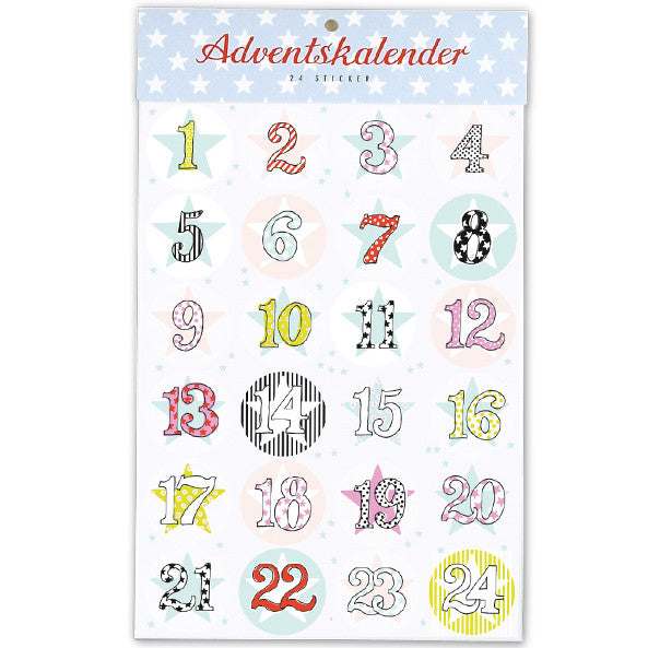 Adventskalender-Sticker von Krima & Isa