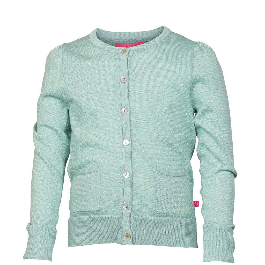 Glitzer-Strickjacke mint, LEBIG