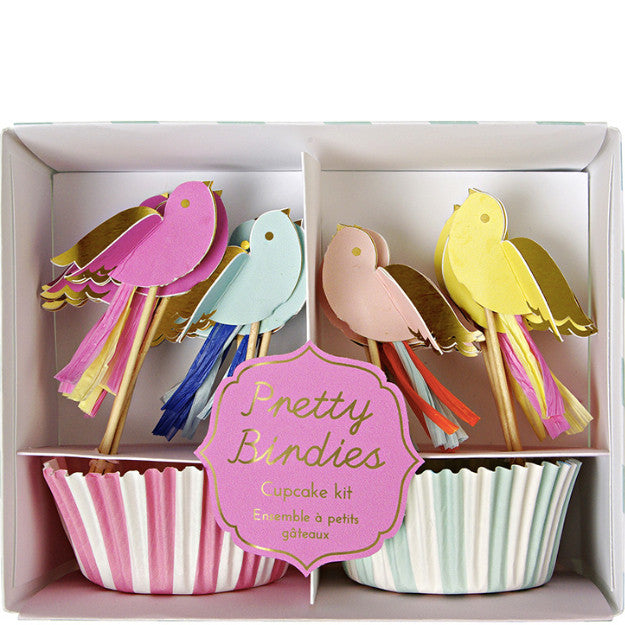 Cupcake-Set PRETTY BIRDIES von Meri Meri