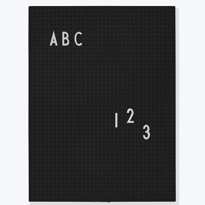 Message Board A4 schwarz, DESIGN LETTERS