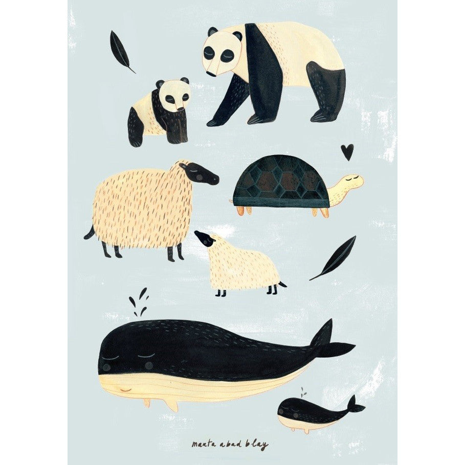 Poster BLACK & WHITE ANIMALS von Petit Monkey