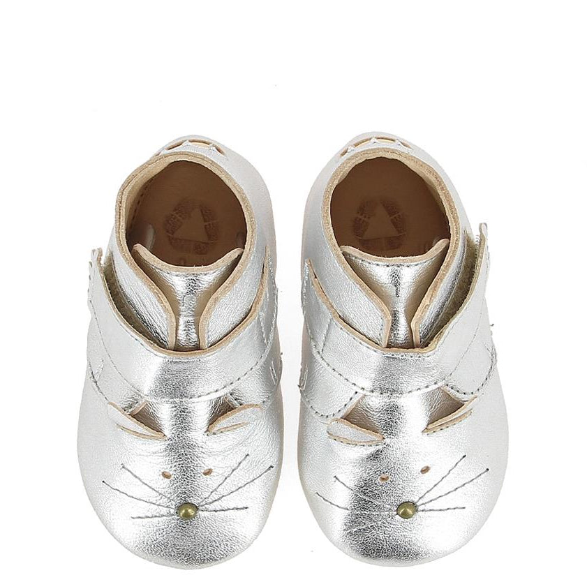 Babyschuhe KINY CHAT silber, Easypeasy