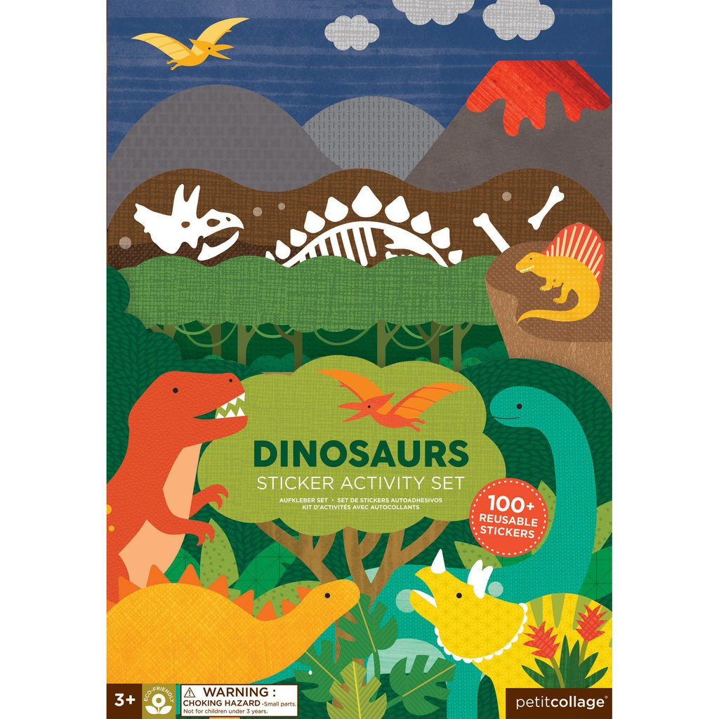 Sticker-Activity-Set DINOSAURIER, Petit Collage