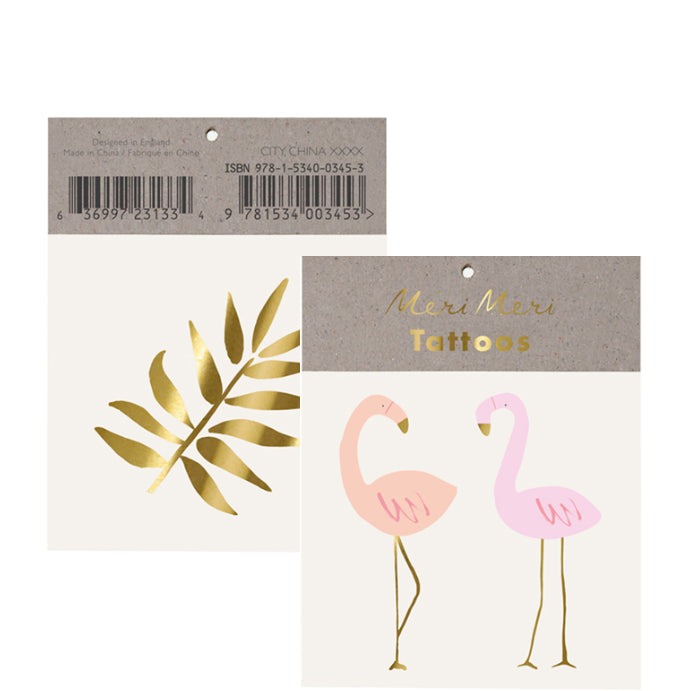 Tattoo-Set FLAMINGO von Meri Meri