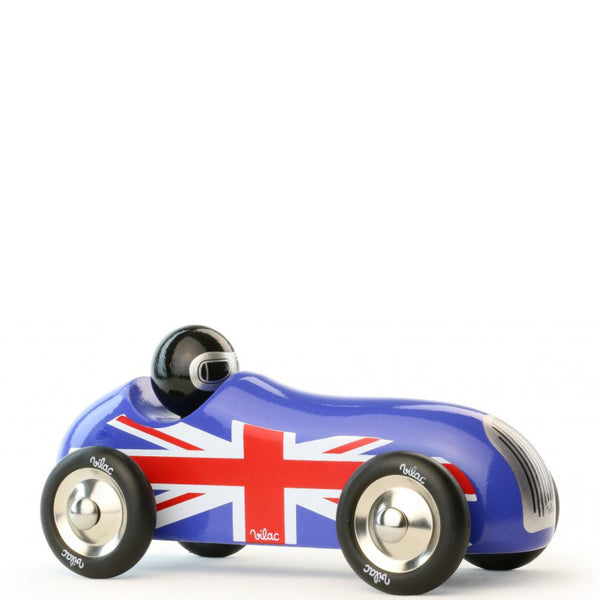 Holzauto OLD SPORT CAR, union jack