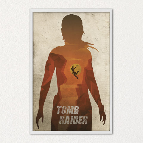Tomb Raider Poster Alternative Video Game Poster Xbox Playstation Nintendo Lara Croft Alicia Viikander