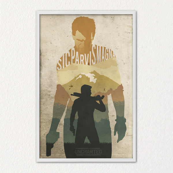 Uncharted Video Game Poster Alternative Video Game Poster