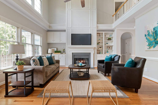 Living room furniture in a modern room