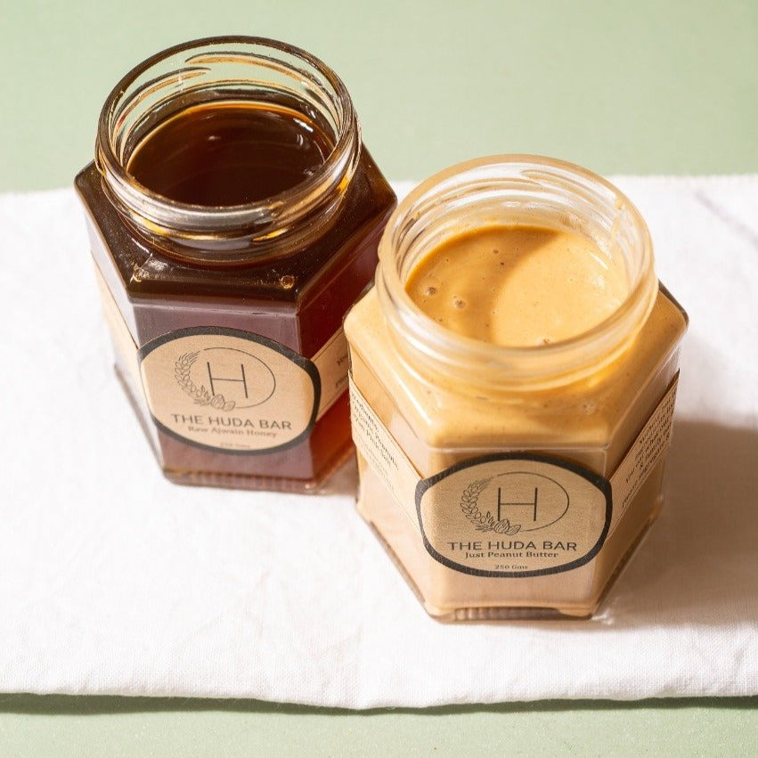 Raw Fennel Honey and Creamy Peanut Butter Package