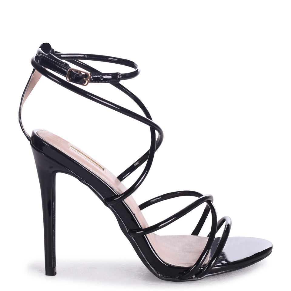 527347ae93a2 Neon Pink Strappy Stiletto Heel With Ankle Strap – Linzi